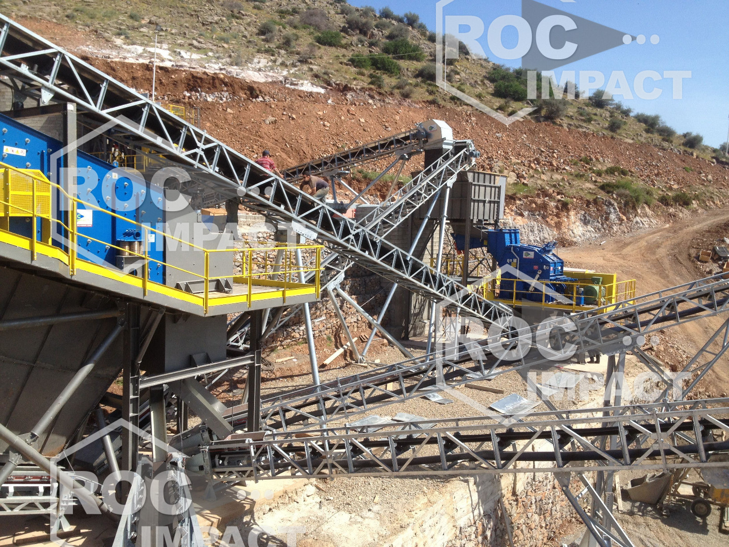 CRUSHING PLANT CAPACITY 300 T/H - 0/25 MM (DESTINATION ALGERIE)