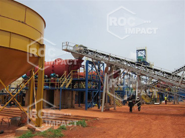 Mis en place d'une mine d'or au Mali (convoyeur systeme ROC BELT)