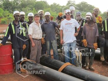 Abastecimiento de cintas transportadoras para la mina de oro en Mali (sistema de cintas ROC BELT)
