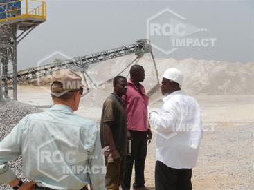 Nueva instalación de trituración y cribado para la CONAKI de Guinea