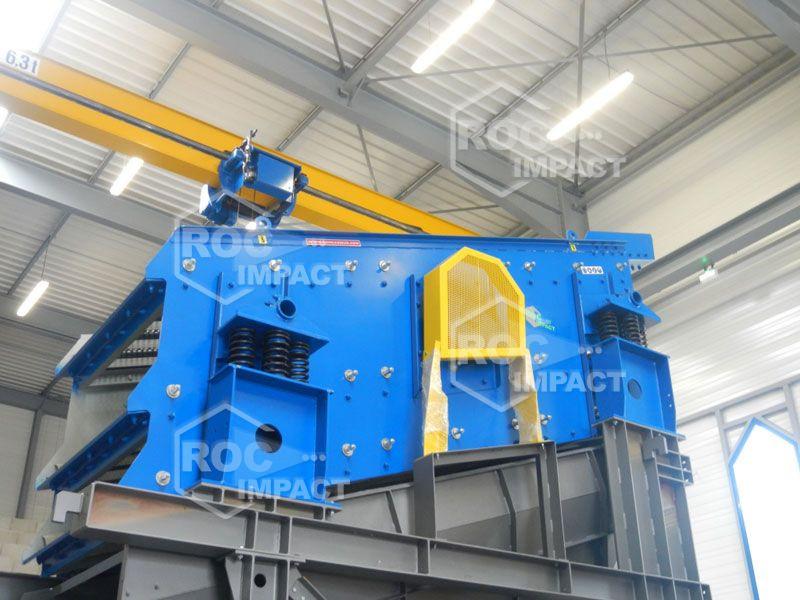 Unidad de trituración móvil producción 200 t/h de 0/25 mm (destino Rusia)