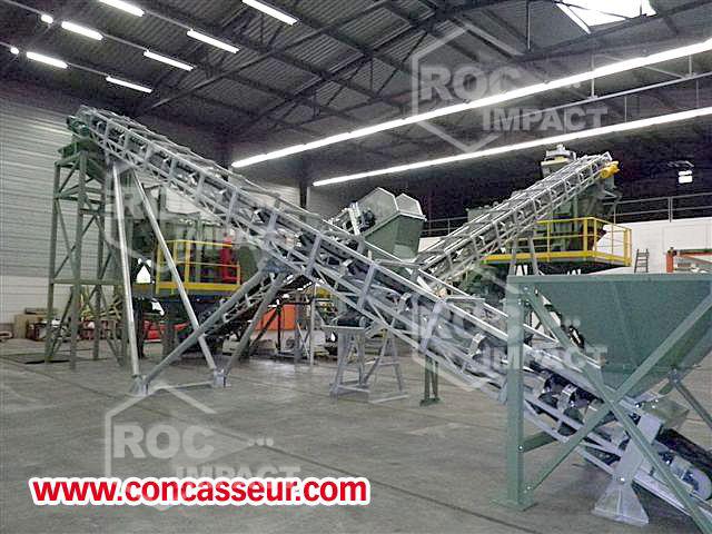 La entrega de una instalación completa de chancadore Roc Impact Francia