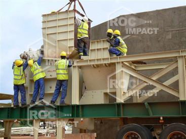 Installation concasseur - Mine d'or au Burkina Faso SEMAFO MANA GOLD MINING
