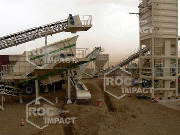 Installation station concassage à la mine d'or en Algérie