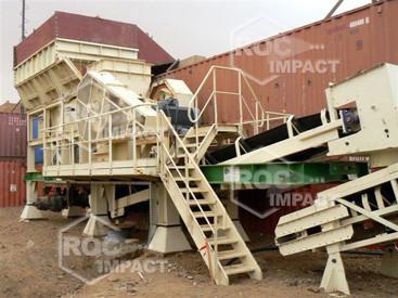 Instalación estación de chancado en mina de oro en Argelia