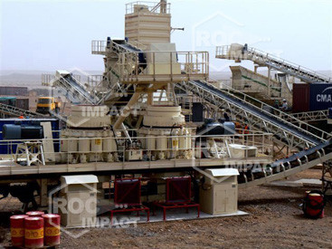 Crushing house at the gold mine in Algeria