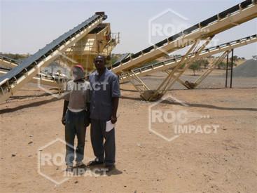 Instalación chancadora para Construcción de rutas y ciudades entre Agadez Djadjeri y Zinder